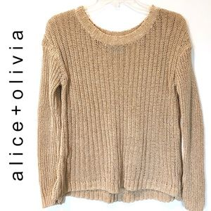 ALICE + OLIVIA Knit Crew Neck Sweater